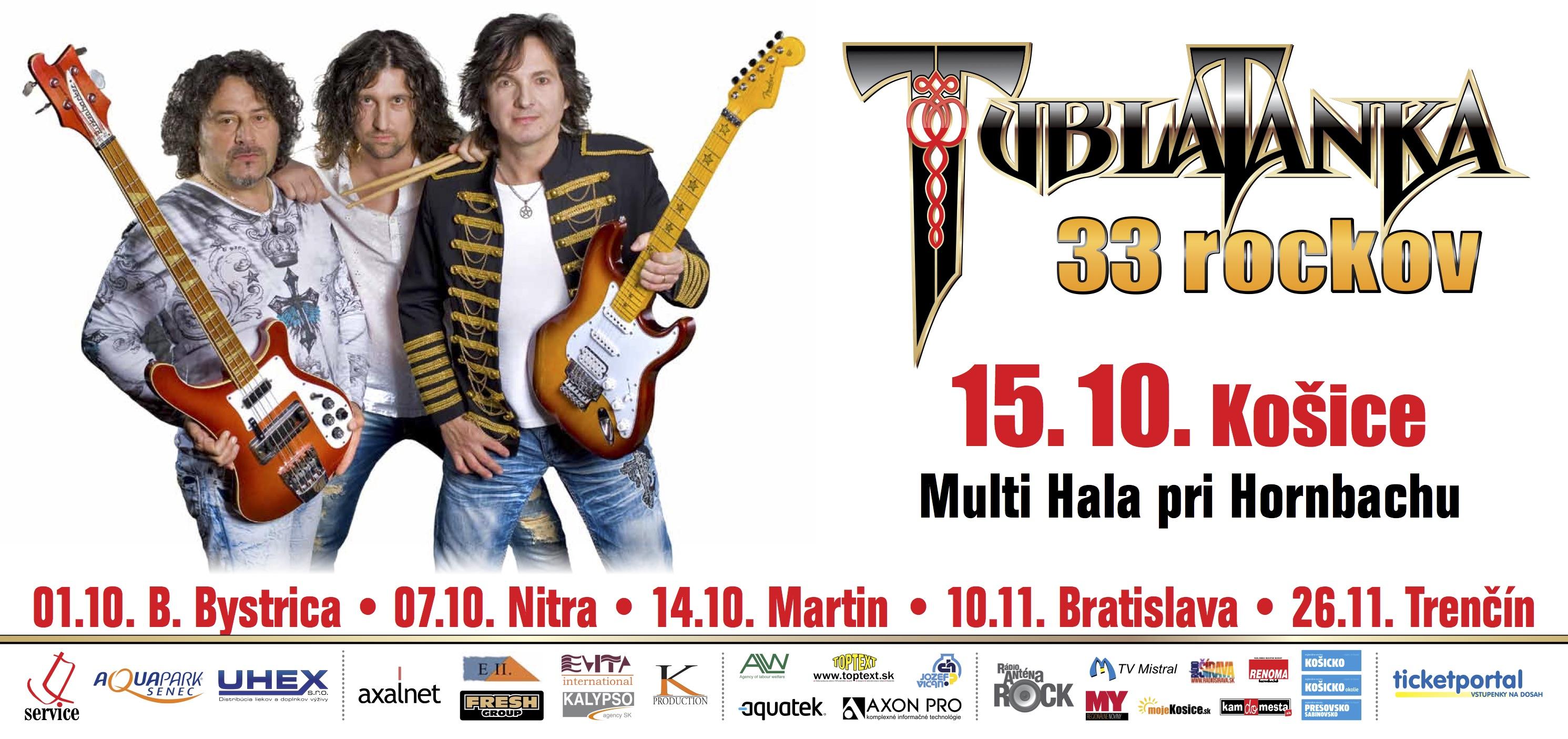 Legendárna rocková skupina Tublatanka vyráža na slovenské aj české  koncertné turné pod názvom TUBLATANKA 33 rockov 7645e0d5739